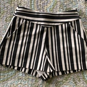 Black and white striped shorts- perfect condition